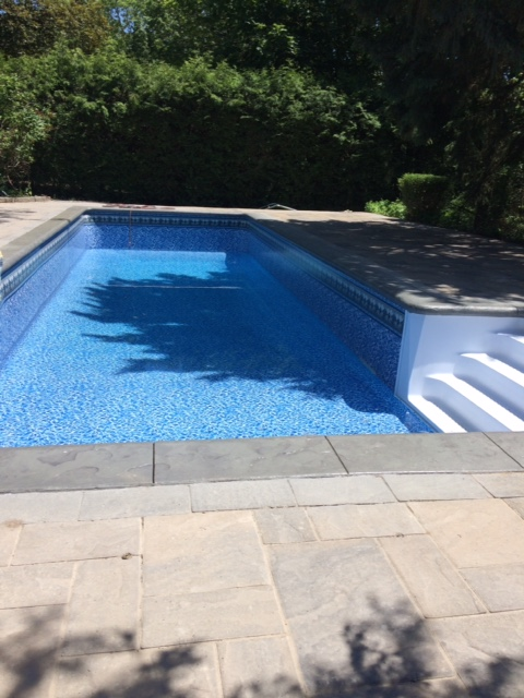 Poolwerx Bayview Slate, White Diffusion Wall